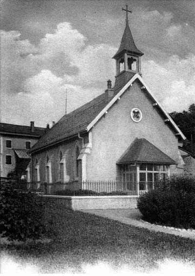 History of English Churches in Switzerland: St. Peter's - Chateau d'Oex